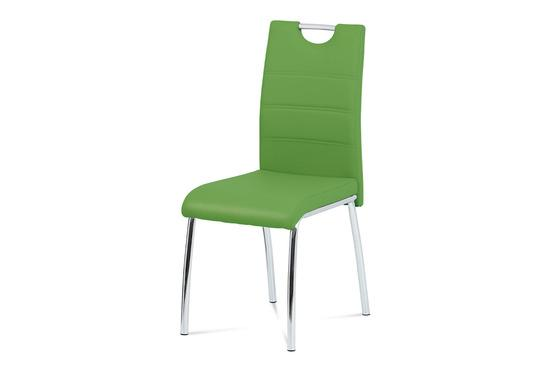 Autronic DCL-401 GRN Jídelní židle, ekokůže zelená / chrom