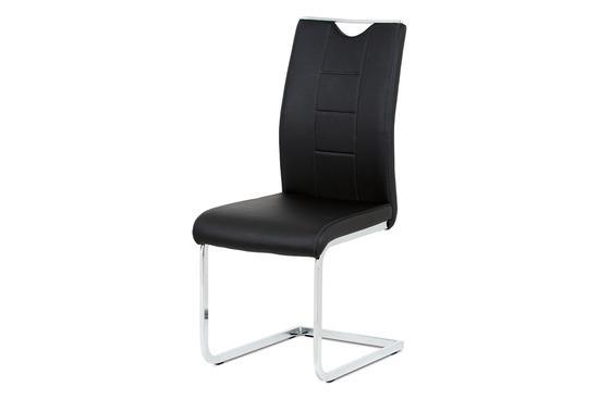 Autronic DCL-411 BK Jídelní židle černá koženka / chrom