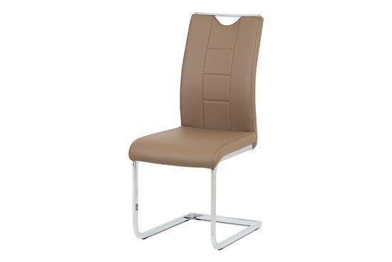 Autronic DCL-411 LAT Jídelní židle latte koženka / chrom