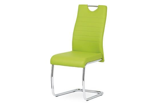 Autronic DCL-418 LIM Jídelní židle koženka zelená / chrom