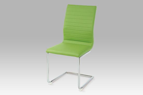 Autronic HC-038-1 GRN Jídelní židle chrom / koženka zelená