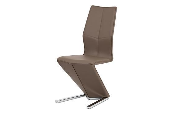 Autronic HC-788 CAP Jídelní židle, cappuccino ekokůže, chrom