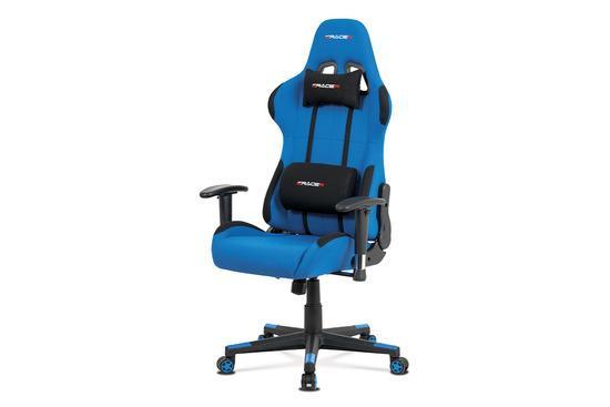 Autronic KA-F05 BLUE Kancelářská židle, modrá látka, houpací mech., plastový kříž