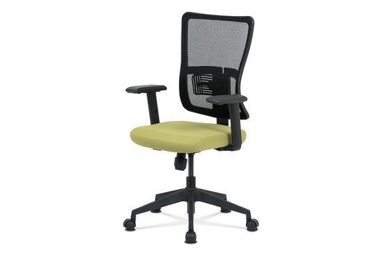 Autronic KA-M02 GRN Kancelářská židle, zelená látka+černá síťovina, houpací mech., plastový kříž