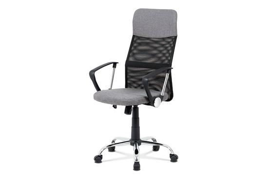 Autronic KA-V204 GREY Kancelářská židle, šedá látka, černá MESH, houpací mech, kříž kovový
