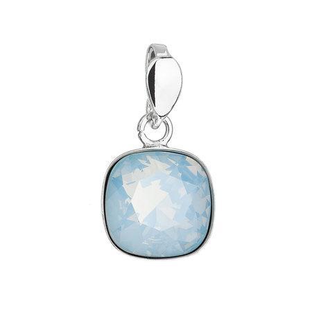 Stříbrný přívěsek s krystalem Swarovski modrý čtverec 34224.7 blue opal