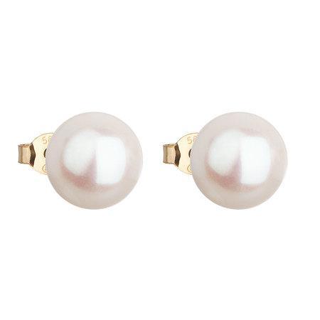 Evolution Group Zlaté náušnice pecky s pravými perlami Pavona 921043.1