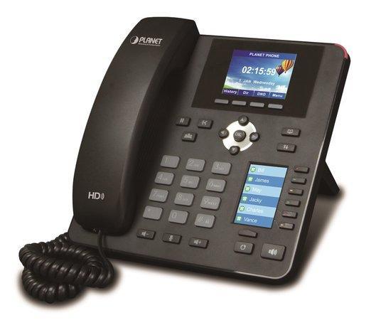 Planet VIP-2140PT VoIP telefon, G.722 HD, LCD+DSS displeje, BLF tlačítka, 4x SIP účty, Auto konf, Po