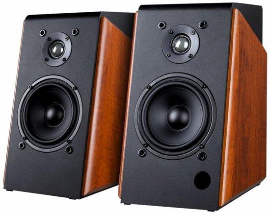 FENDA F&D repro R60BT/ 2.0/ 120W/ dřevěné/ černodřevěná barva/ BT4.0/ USB/ optický vstup/ dálkové ov
