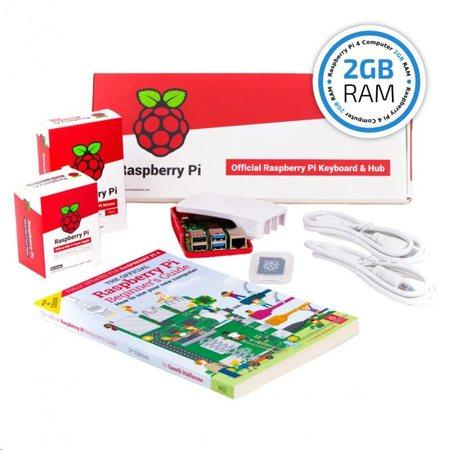 Raspberry Pi 4B/2GB Desktop Kit, malinový/bílý, OFI069