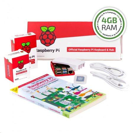 Raspberry Pi 4B/4GB Desktop Kit, malinový/bílý, OFI044