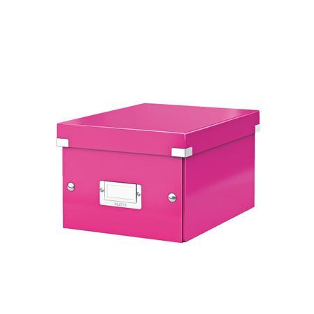 Univerzální krabice Leitz Click&Store, velikost S (A5), růžová, 60430023
