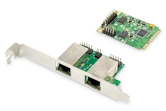 Digitus Dual Gigabit Ethernet Mini PCI Express Network Card, DN-10134