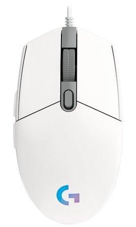 LOGITECH G102 LIGHTSYNC Gaming Mouse - WHITE - EER