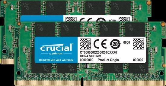 Crucial DDR4 16GB (2x8GB) SODIMM 2666MHz CL19