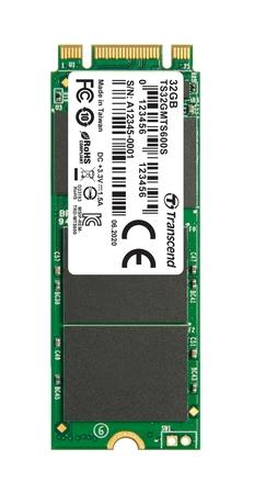 TRANSCEND MTS600S 32GB SSD disk M.2 2260, SATA III 6Gb/s (MLC), 280MB/s R, 50MB/s W, retail packing