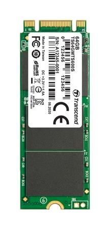 TRANSCEND MTS600S 64GB SSD disk M.2 2260, SATA III 6Gb/s (MLC), 520MB/s R, 100MB/s W, retail packing