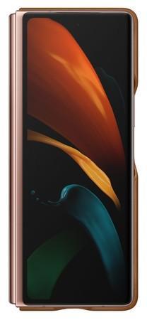 Samsung Kožený zadní kryt pro Z Fold 2 Brown