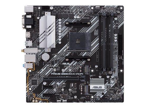 ASUS PRIME B550M-A (WI-FI) soc.AM4 B550 DDR4 mATX M.2 D-Sub DVI HDMI WF BT, 90MB14D0-M0EAY0
