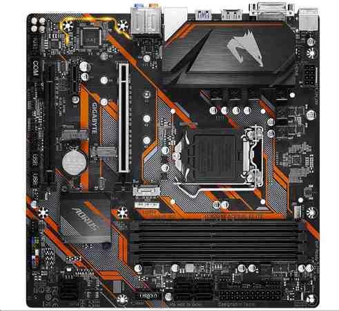 GIGABYTE MB Sc LGA1151 B365M AORUS ELITE rev 1.0, Intel B365, 4xDDR4, VGA, mATX, B365 M AORUS ELITE