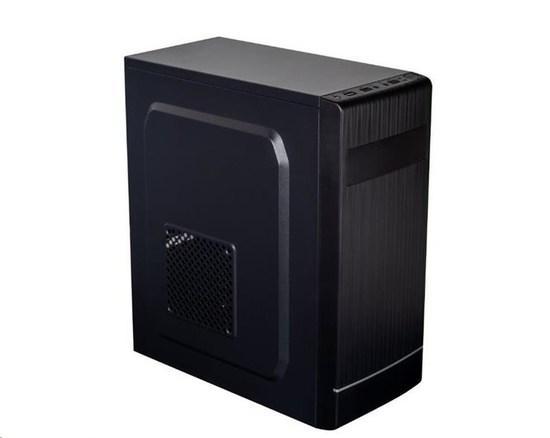 EUROCASE skříň ML X301 black, micro tower, 2x USB 2.0, bez zdroje, MLX301