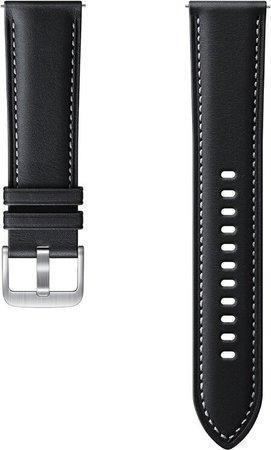 Samsung Stitch Leather Band (20mm, S/M) Black