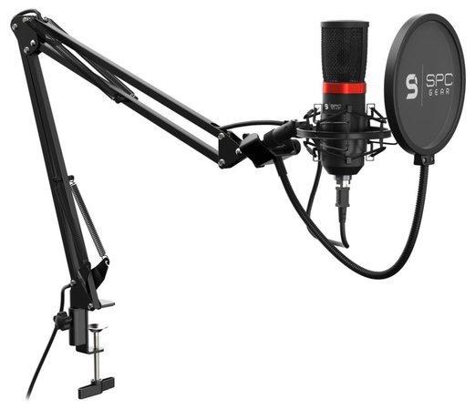 SPC Gear mikrofon SM950 Streaming microphone / USB / polohovatelné rameno / mute tlačítko / pop filtr, SPG053