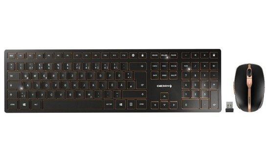 CHERRY set klávesnice a myši DW 9000 slim EU layout černá, JD-9000EU-2