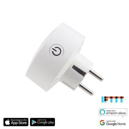 iQtech SmartLife WS007, chytrý Wi-Fi zásuvkový adaptér, 10 A, měření spotřeby