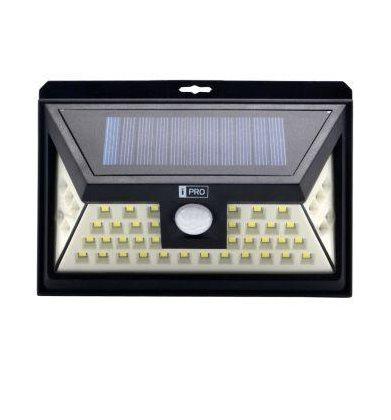 iQtech iPro 46 solární venkovní světlo, 46 LED, senzor, bezdrátové