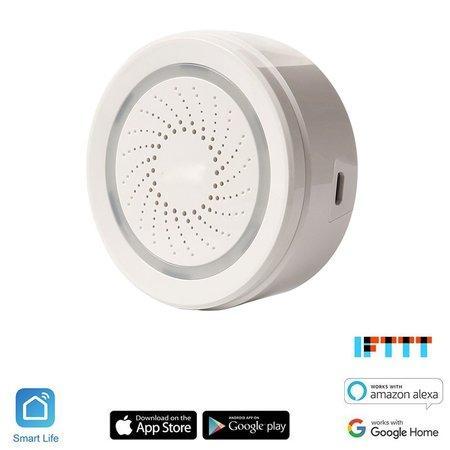 iQtech SmartLife Senzor teploty a vlhkosti se sirénou, SR02W, Wi-Fi