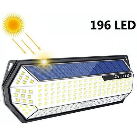 iQtech iPro 196 solární venkovní světlo, 196 LED, senzor, bezdrátové