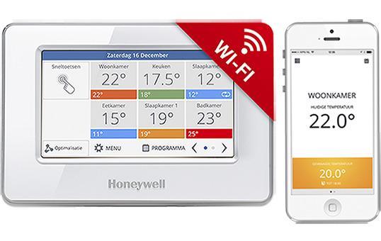 Honeywell EvoTouch-WiFi ATC928G3026, řídící jednotka bez napájení, bílá, CZ lokalizace