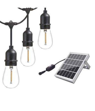 iQtech iPro 10, solární venkovní světlo, 10 LED E27 žárovek, 6W