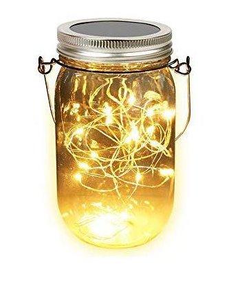 iQtech LEDsolar sklenice, solární venkovní světlo, 1 W, teplá bílá