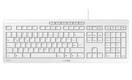 CHERRY klávesnice STREAM EU layout bílá, JK-8500EU-0