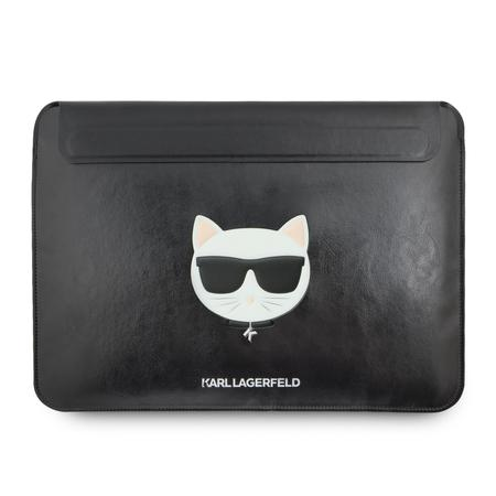 KLCS133CHBK Karl Lagerfeld Kožené Choupette Sleeve Pouzdro pro MacBook Air/Pro