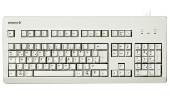 CHERRY G80-3000 BLUE SWITCH mechanická klávesnice EU layout bílá, G80-3000LSCEU-0