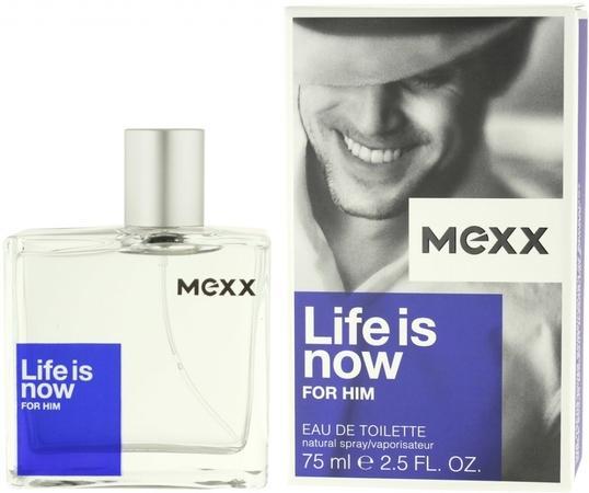 Mexx Life Is Now For Him toaletní voda Pro muže 75ml