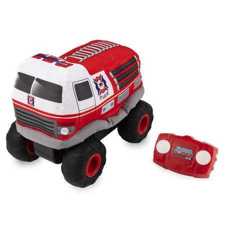 RC plyšový hasič s efekty na dálkové ovládání