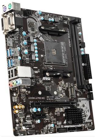 MSI A320M-A PRO M2, AM4, 2x DDR4, 1PCI-Ex16, 4SATA3, 6USB3.2, A320M-A PRO M2