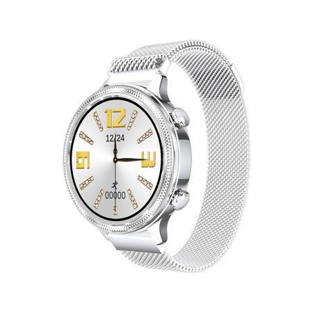 Chytré hodinky Carneo Gear+ Deluxe - stříbrné