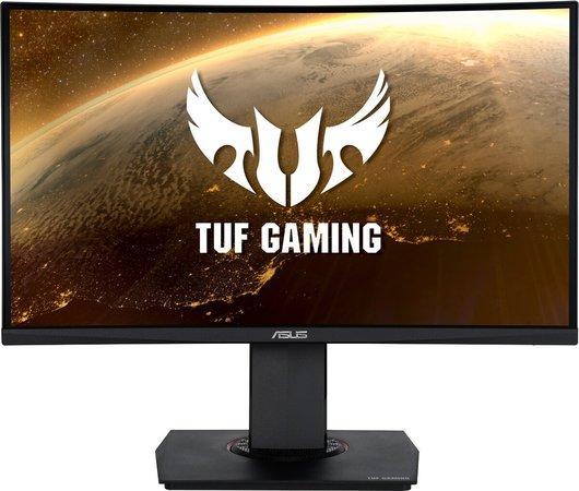 "ASUS MT 23.6"" VG24VQ 1920x1080 TUF Curved Gaming 144Hz Extreme Low Motion Blur FreeSynC 1ms (MPRT) Shadow-B REPRO PIVOT, 90LM0570-B01170"