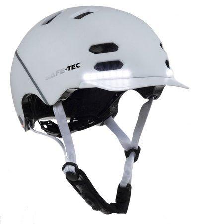 SAFE-TEC Chytrá Bluetooth helma/ SK8 White S