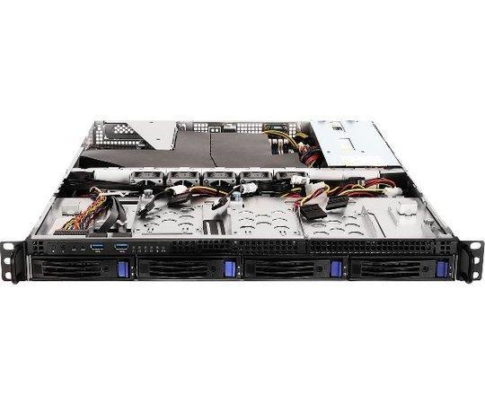 ASRockRack 1U server 1x AM4, 4x DDR4 ECC, 4x SATA 3,5HS, PCIe3 x16, 2x 1Gb LAN, 2x300W, IPMI, 1U4LW-X470 RPSU