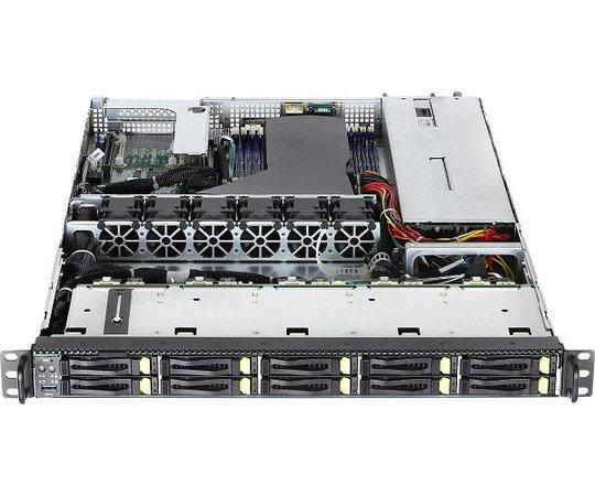 ASRockRack 1U server 1x SP3 7002, 8x DDR4 ECC R, 10x SATA/NVMe 2,5HS, PCIe4 x16, OCP2, 2x 10Gb LAN, 2x750W, IPMI, 1U10E-ROME/2T