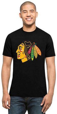 Triko 47 Brand Splitter Tee NHL SR, černá, Senior, Chicago Blackhawks, M