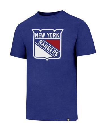 Triko 47 Brand Splitter Tee NHL SR, modrá, Senior, New York Rangers, M