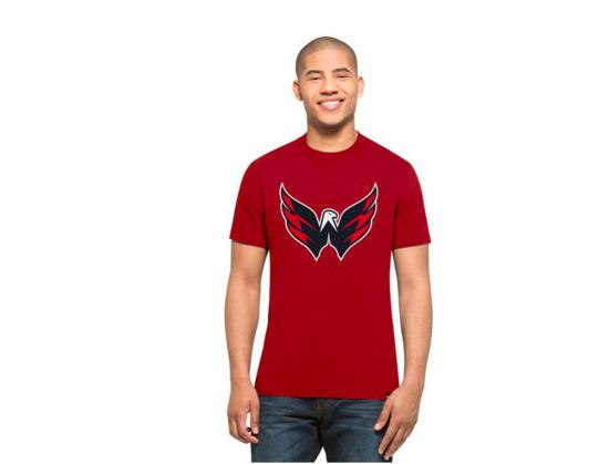 Triko 47 Brand Splitter Tee NHL SR, červená, Senior, Washington Capitals, M
