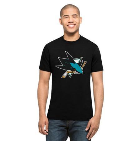 Triko 47 Brand Splitter Tee NHL SR, černá, Senior, San Jose Sharks, S